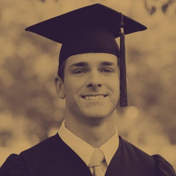 smiling graduate ready for college